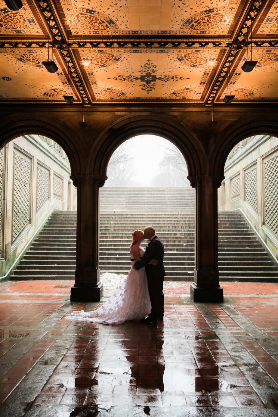 Bethesda fountain terrace wedding